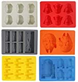 Set of 6 Star Wars Silicone Ice Trays Chocolate Molds