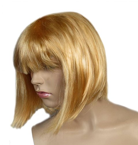 Sonia Originelli Perücke Kurzhaar Bob Kopfbedeckung WM EM Fan Party Fasching Karneval Farbe Blond