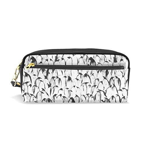 Pencil Bag Pen Case Pouch Penguins Nahtlose Tiermuster Make-up Kosmetik für Mädchen Jungen Travel School Penguin Gel
