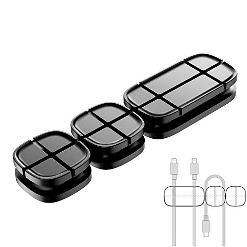 Cable Clips Adhesive Black Cable...