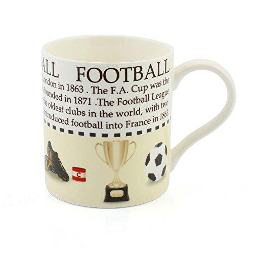 Lesser Taza de Porcelana China de fútbol con descripción del Deporte en Caja de Regalo a Juego