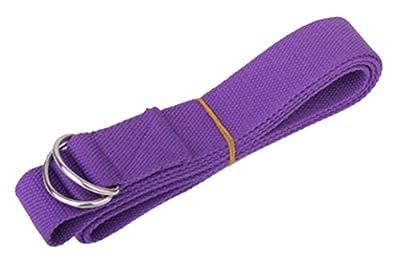 niceeshop(TM) Langen Verstellbaren Stretch Yoga Trainingszubehör Baumwolle Yoga Gurt Gürtel mit Schnalle
