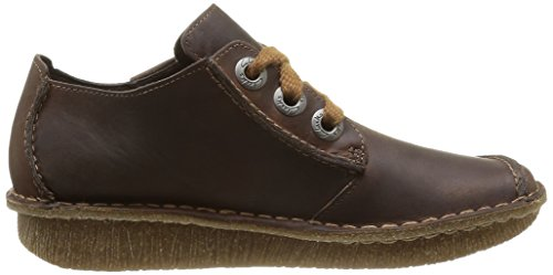 Clarks - Funny Dream, Scarpe Stringate Donna Marrone (Brown Leather)