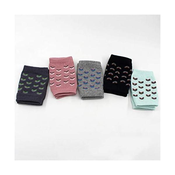Riky Excelente 1 par de rodilleras protectoras para bebés y niños pequeños, antideslizantes, ajustables y elásticas… 3