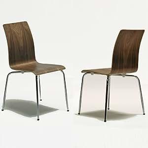 6 st ck design klassiker st hle benson echtholz walnuss furnier stapelbar k che. Black Bedroom Furniture Sets. Home Design Ideas