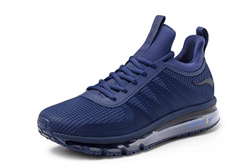 ONEMIX Scarpe da Corsa da Uomo Leggere Sneaker Athletic Air Casual Fitness Blu Scuro 43