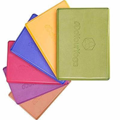 Yogablock »Damodar« - flach - erhältlich in den Trendfarben: Erdbraun Moosgrün Bordeaux Currygelb Lila - der ideale Yogaklotz aus gehärtetem Schaumstoff (Hartschaum) / REACH geprüft (keine Schadstoffe) der Yoga Brick ist ein praktisches Hilfsmittel (Yogaz