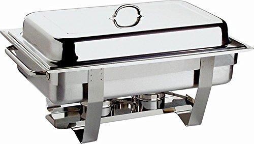 APS 11686 Chafing Dish Set - Profi-, 61 x 31cm, Edelstahl rostfrei inkl. GN-Behälter 1/1, 9 ltr., + 2x GN-Behälter 1/2, 3,5 ltr. 2 Brennpastenbehälter, im Farbkarton Chaffing Dish