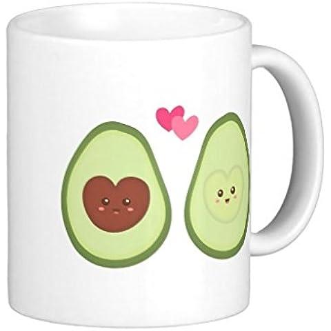 Funny Taza de regalo oficina de té, café, diseño Cute Aguacate de pareja en Love My otra mitad Taza de