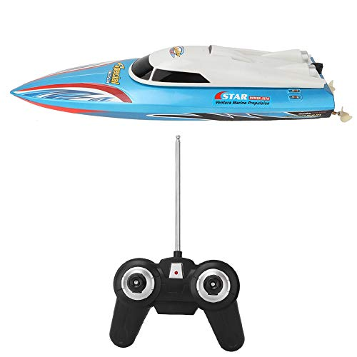 Zerodis RC Boote Figuren Spielzeug Set Hochgeschwindigkeits Fernbedienung Motorboote Electric Mini Electric RC Rennboote für Erwachsene Kinder Outdoor Pool (Blau)
