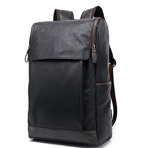 daypacks-itechor-preppy-style-manner-pu-leder-rucksack-schultasche-im-freien-travel-bag-schwarz
