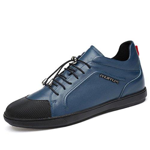 Loisirs De Mode Chaussures En Cuir Pour Homme bleu L90VlaOLH