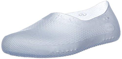 Fashy® Erwachsene Unisex Badeschuhe, Schwimmschuhe in 2 Farben erhältlich - Wassersport- TÜV geprüft und CE-Kennzeichnung - (Made In Germany) Weiß-Transparent 38/39 EU