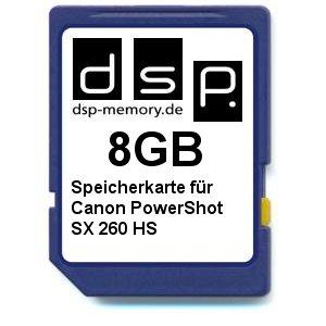 DSP Memory Z-4051557402515 8GB Speicherkarte für Canon PowerShot SX260 HS