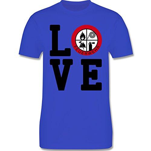 Feuerwehr - LOVE Feuerwehr - Herren Premium T-Shirt Royalblau