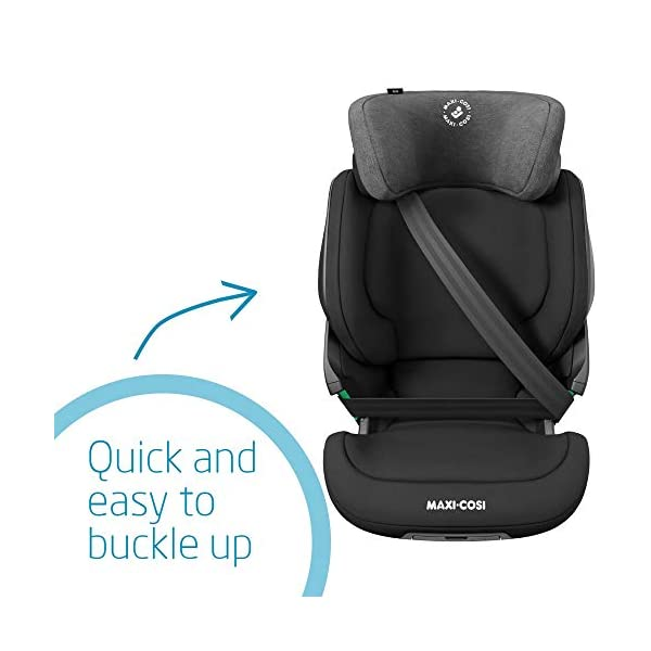 Maxi-Cosi Kore i-Size Child Car Seat, 3.5 - 12 years, 100 - 150 cm, Authentic Black Maxi-Cosi Child car seat, suitable to use from 3.5 to 12 years (approx from 100 cm to 150 cm) ISOFIX installation is possible with this group 2/3 car seat for optimal stability Quick and easy to buckle up: This ISOFIX car seat is designed to enable children to get in and out and buckle up on their own in a few seconds 4