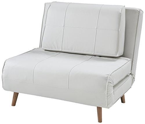 Poltrona Letto In Pelle.Wink Design Westminster Poltrona Letto Pelle Sintetica Bianco