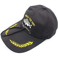 Noga Sombrero de pesca al aire libre Sombrero de sol Gorra de béisbol Gorra Negro Sombrero