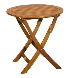 gartentisch holztisch runder tisch klapptisch rund 70 cm durchmesser. Black Bedroom Furniture Sets. Home Design Ideas