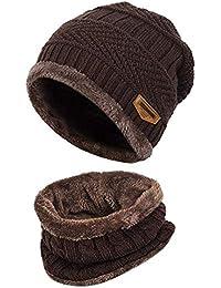GHONLZIN Sombrero de Invierno con Bufanda fcfb78f776c