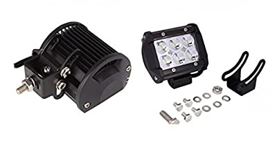 """Pandamoto 2 Pack 4"""" 18w CREE LED Work Light Bar Spot Beam Driving Lamp for Off-road Truck Car ATV SUV Jeep Boat 4WD"""