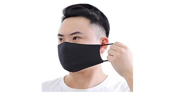 waschbar Sqiuxia Fashion schwarzer Baumwoll-Mundschutz Unisex f/ür Outdoor-Schutz wiederverwendbar