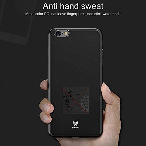 Phone Case & Hülle für iPhone 6 & 6s PC ultradünner Aufprallschutz-Abdeckungs-Fall ( Color : Dark blue ) Black