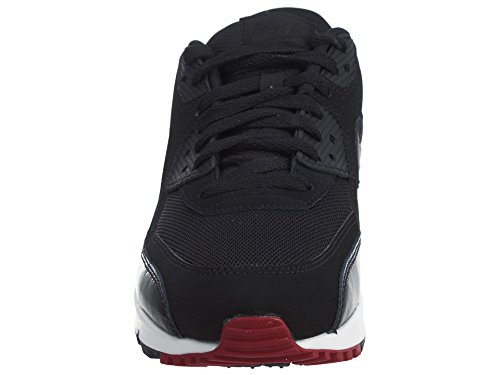 Nike Air Max 90 Essential, Chaussures de running homme Blanc Cassé (Black/black/gym Red/white)