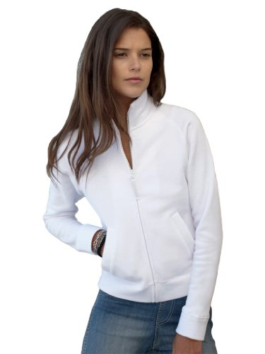Lady-Fit Sweatjacke, Farbe:White;Größe:M M,White