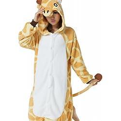 Ferrand Kigurumi Pijamas Unisexo Adulto Traje Disfraz Animal Adulto Animal Pyjamas Jirafa XL