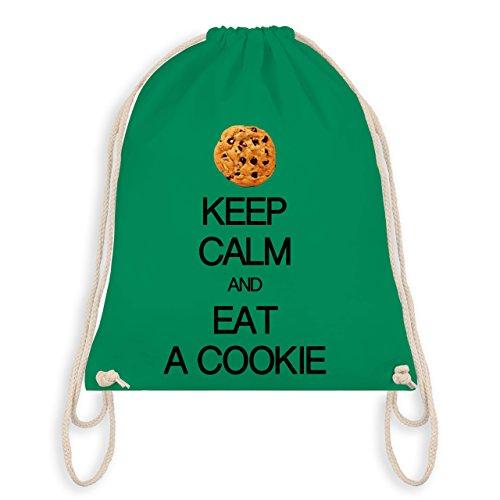Keep calm - Keep calm and eat a cookie - Unisize - Grün - WM110 - Turnbeutel & Gym Bag