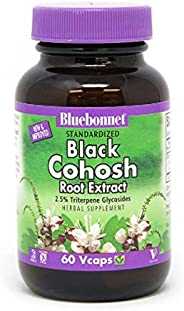 مستخلص جذور كوهوش السوداء المعيارية، 60 كبسولة نباتية من بلوبونيت