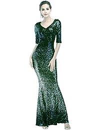 4c13a6274c67 KELUOSI Donne Vestiti Elegante Gradiente Paillettes Abito da Cerimonia Abito  da Sposa Lungo Vestito Partito