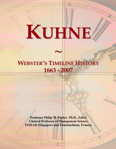 kuhne-websters-timeline-history-1663-2007