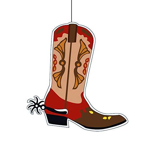 PARTY DISCOUNT Deko-Hänger Cowboy Stiefel, 30 x 30 cm