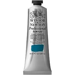 Winsor & Newton Professional - Pintura acrílica tubo 60 ml, color Turquesa de cobalto