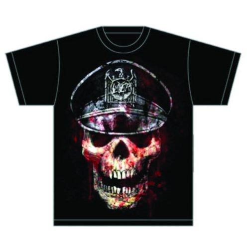 Rock Off Herren, Regular Fit, T-Shirt, Slayer Skull Hat Schwarz - Schwarz