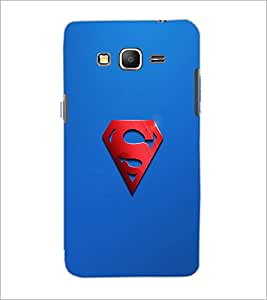 PrintDhaba Superman Logo D-2447 Back Case Cover for SAMSUNG GALAXY GRAND PRIME (Multi-Coloured)