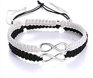 ECOLOG 2Pcs 8 Infinity Braided Bracelets Couple Braided