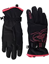 Roxy Popis - Guantes nieve para mujer, color negro, talla M