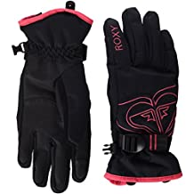 Roxy Popis - Guantes nieve para mujer, color negro, talla XL