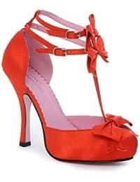 Leg Avenue - Chaussures Talons avec Noeuds Rosy - Rouge - 40 - LA453-ROSY
