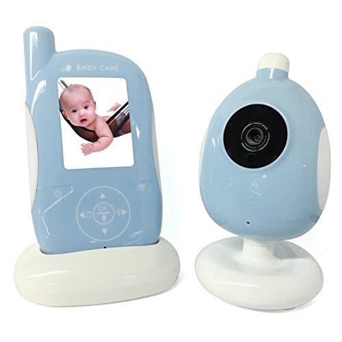 2.4GHz 2.4 inch Zwei-Wege CMOS 0.3MP Baby-Monitor Überwacher - Blau (EU-Stecker)
