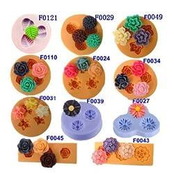 Chocolate Jelly 3D Mold Mini Silicone Fondant DIY Flower Cake Mold (F0110)