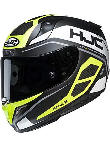 Casco Moto Hjc Rpha 11 Saravo Fluorescent (M, Giallo)