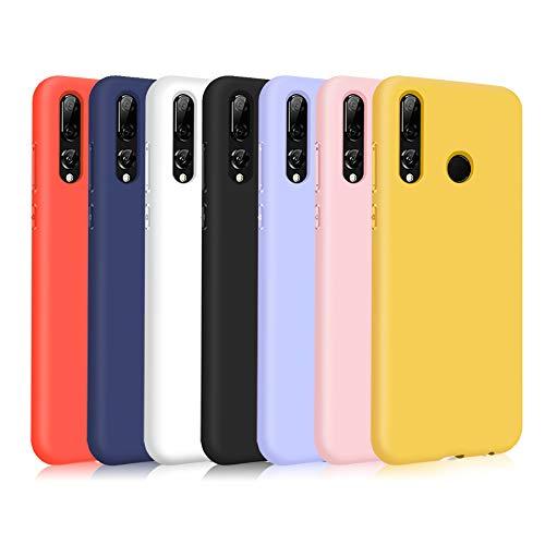 TVVT 7X Cover per Huawei P Smart+ 2019/ P Smart Plus 2019, Ultra-Sottile Colore Silicone Morbido TPU Custodia Anti-Urto Anti-Graffio Cellulari Protezione Paraurti Leggero - Sette Colori