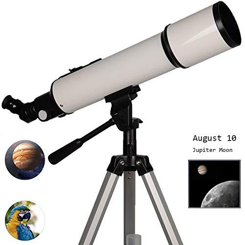 AKEFG Astronomischer Refraktor Teleskope Perfekt Zur Beobachtung Von Planeten Im Sonnensystem Und Hellen Deep-Sky Objekten LED Sucherfernrohr Und Zenith Spiegel Sky Zeiger