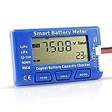 Tester di capacità della Batteria RC Digitale, Misuratore di Batteria Intelligente 5 in 1 Checker di capacità Tester Esc per Batteria NiMH Li-Ion LiPo 1-7S