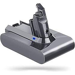 LiBatter V6 21.6V 3000mAh batterie de rechange Li-ion Pour Dyson V6 SV03 SV05 DC58 DC59 DC61 DC62 Animal DC72 série aspirateur sans fil portatif 204720-01 204732-01 209472-01 209476-01 209560-01