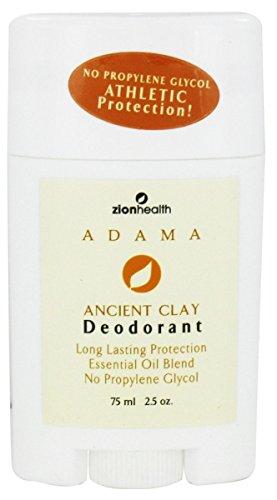 Zion Santé Adama Clay Déodorant - 2,5 onces. (75 ml)